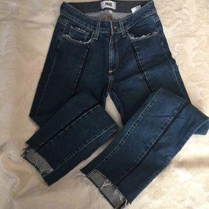 PAIGE Denim Cut-Out Hem Jeans Size 24